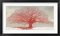 Framed Red Tree