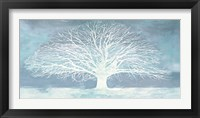 Aquamarine Tree Framed Print