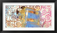 Framed Klimt's Embrace 2.0