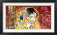 Klimt's Kiss 2.0 (detail) Framed Print
