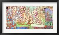 Framed Klimt's Tree of Life 2.0