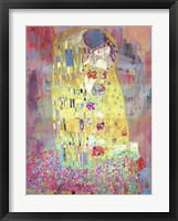 Framed Klimt's Kiss 2.0