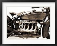 Framed Detail of 4 cylinder Indian Ace, 1929
