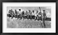 Framed New York Construction Workers Lunching on a Crossbeam, 1932 (detail)