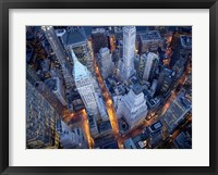 Framed Aerial View of Wall Street