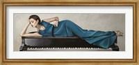 Framed Piano Lady