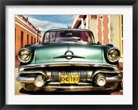 Framed Vintage American Car in Habana, Cuba