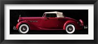 Framed Packard Super Eight Coupe Roadster