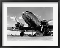 Framed 1940s Passenger Airplane