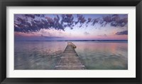 Framed Boat Ramp and Filigree Clouds, Bavaria, Germany