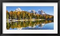 Framed Lago Antorno and Misurina, Dolomites, Italy