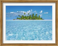 Framed Tropical Lagoon with Palm Island, Maldives