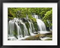 Framed Waterfall Purakaunui Falls, New Zealand