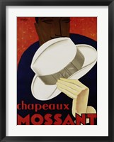 Framed Chapeaux Mossant, 1928