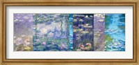 Framed Waterlilies I