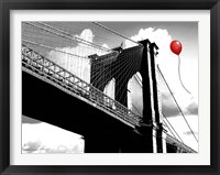 Framed Balloon over Brooklyn Bridge