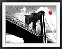 Framed Balloon over Brooklyn Bridge