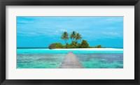 Framed Jetty and Maldivian island