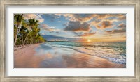 Framed Beach in Maui, Hawaii, at sunset