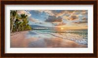 Framed Beach in Maui, Hawaii, at sunset
