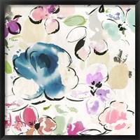 Floral Funk I Framed Print