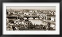 Framed Ponte Vecchio, Florence