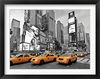 Framed Taxis in Times Square, NYC