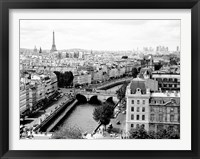 Framed View of Paris and Seine River
