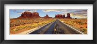 Framed Road to Monument Valley, Arizona