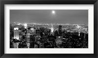 Framed Aerial View of Manhattan, NYC
