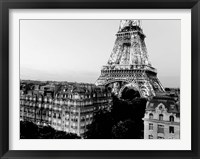 Framed Eiffel Tower and Buildings, Paris