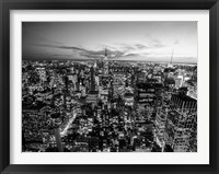 Framed Manhattan Skyline with the Empire State Building, NYC