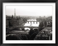 Framed Bridges over the Seine River, Paris 2
