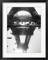 Framed Eiffel Tower Reflected, Paris