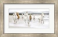 Framed Horses on the beach (detail)