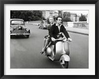 Framed On Motorscooter