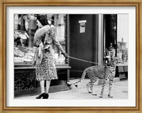 Framed Elegant Woman with Cheetah