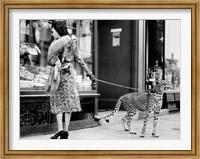 Framed Elegant Woman with Cheetah