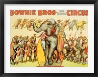 Framed Downie Bros. Big 3 Ring Circus, 1935