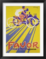 Favor Cycles et Motos, 1927 Framed Print