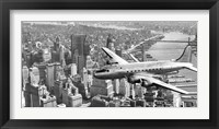 Framed Flying over Manhattan, NYC