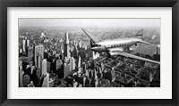 Framed DC-4 over Manhattan, NYC