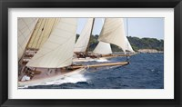 Framed Vintage Sailboats Raicing