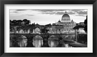 Framed Night View at St. Peter's Cathedral, Rome
