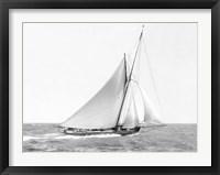 Framed Cutter Sailing on the Ocean, 1910