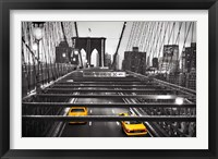 Framed Taxi on Brooklyn Bridge, NYC