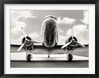 Framed Vintage DC-3 in air field
