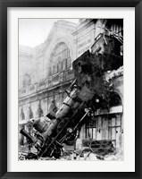 Framed Train wreck at Montparnasse, Paris, 1895