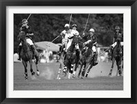 Framed Polo players, New York