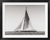 Framed Classic  Racing Sailboat